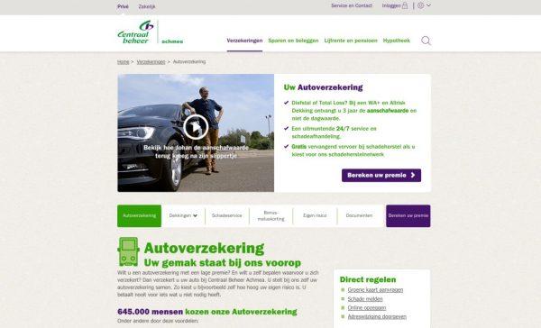 Centraal-Beheer-Autoverzekeringspagina
