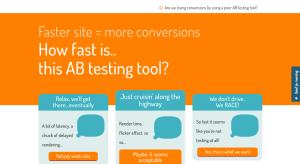 Conversion optimization & site speed: control
