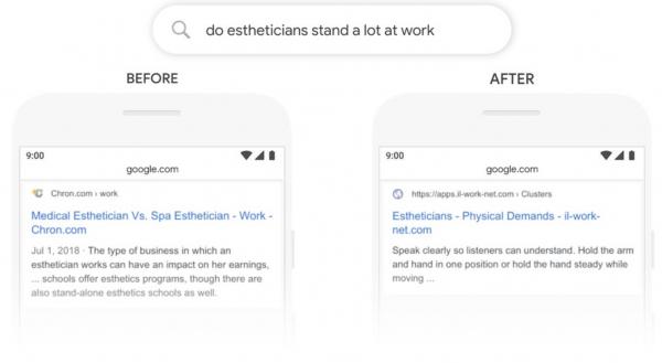 Google BERT update query