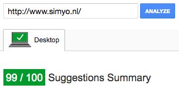 Google Page Speed - Simyo