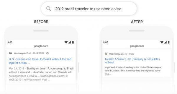 Travel Brazil BERT update