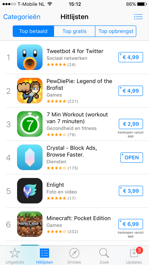 appstore crystal